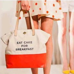 Authentic Eat Cake For Breakfast Kate Spade Tote